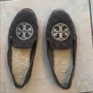 Tory Burch velvet loafers